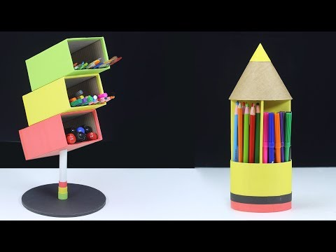2 Amazing Pen Holder From Cardboard! DIY Pen Holder