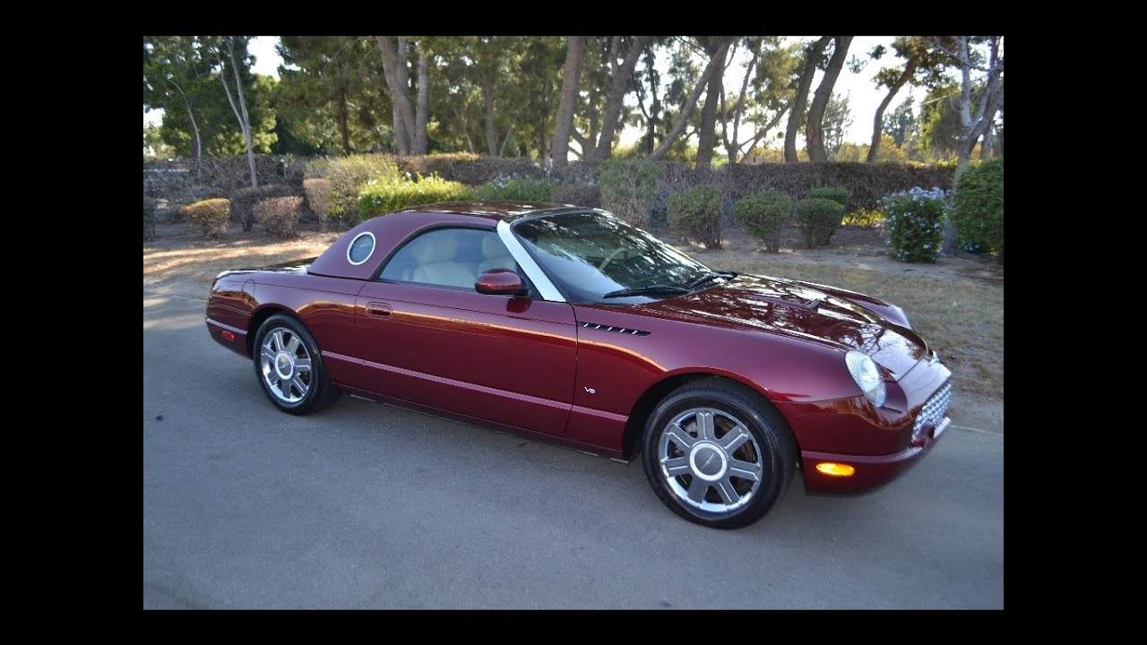 sold 2004 ford thunderbird convertible merlot for sale by corvette mike anaheim california youtube. Black Bedroom Furniture Sets. Home Design Ideas