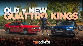 Old v New 2018 Audi RS5 and the 1988 Audi Quattro with Joe Achilles