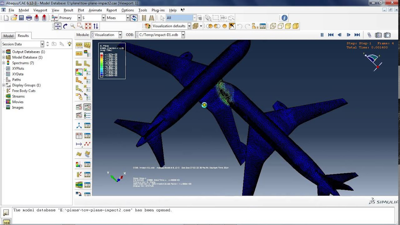 crash simulation with Abaqus - YouTube