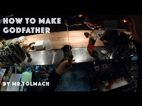 How To Make GODFATHER Cocktail By Mr.Tolmach