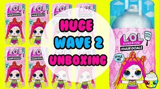LOL Surprise Hair Goals WAVE 2 Giant Unboxing Cupcake Kids Club