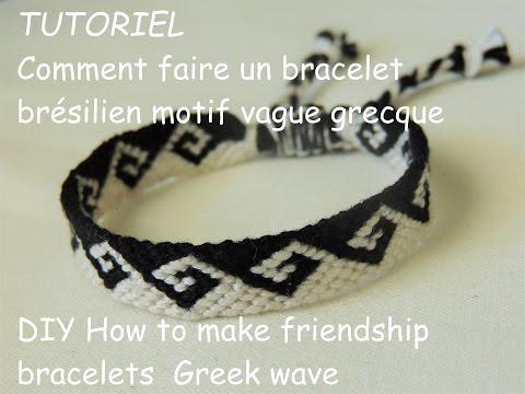 Comment faire une bracelet brésilien vague grecque (DIY how to make friendship bracelets greek wave)