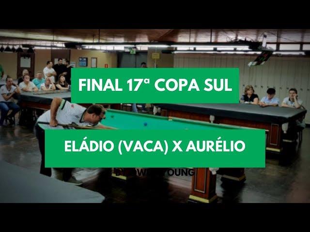 Eládio (Vaca) x Aurélio - Final da 17• Copa Sul Noel Snooker