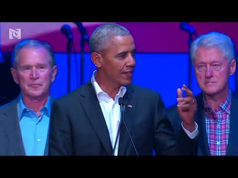 Former U.S. presidents hold concert benefiting hurricane relief efforts