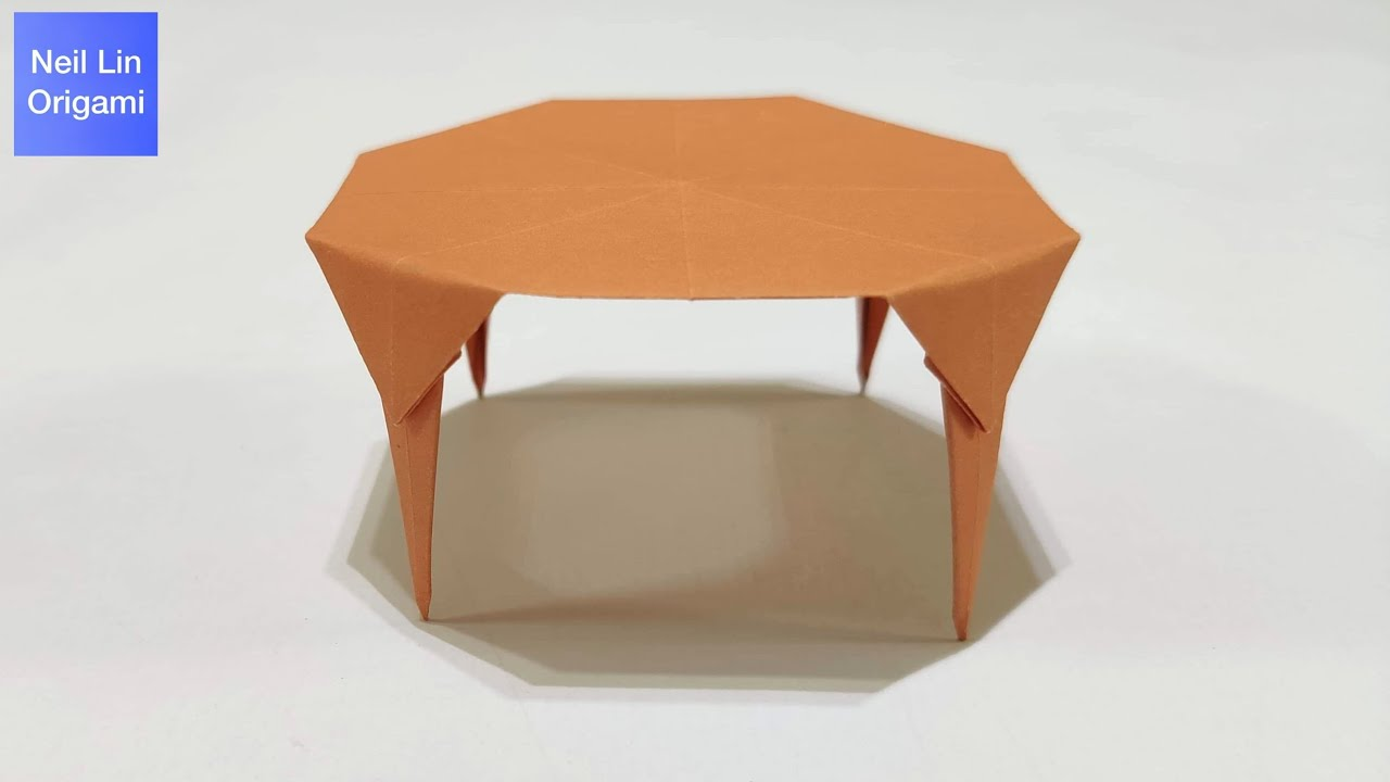 Easy Origami Table Tutorial / How to make a paper table / Origami mini  Furniture