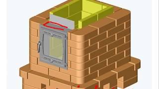 Отопительная подовая печь 640х770 - 2х-контурная