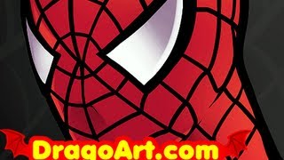 How to Draw Spiderman Easy, Spiderman, Step by Step