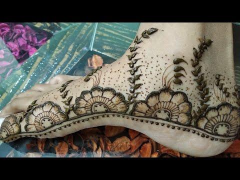 Feet Henna Mehndi Design Leg Henna Mehndi Design Easy Leg Design
