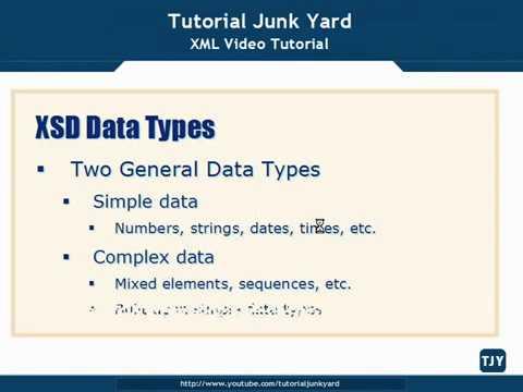XML Tutorial   32 XSD Schema DataTypes