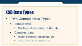 XML Tutorial   32 XSD Schema DataTypes
