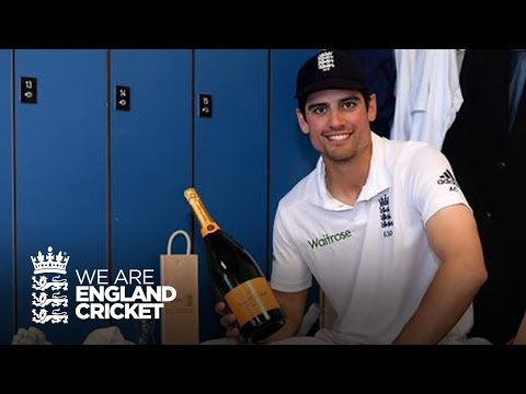 Dressing room reaction with Alastair Cook