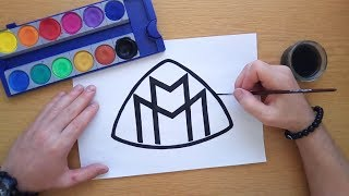 How to draw the Maybach logo