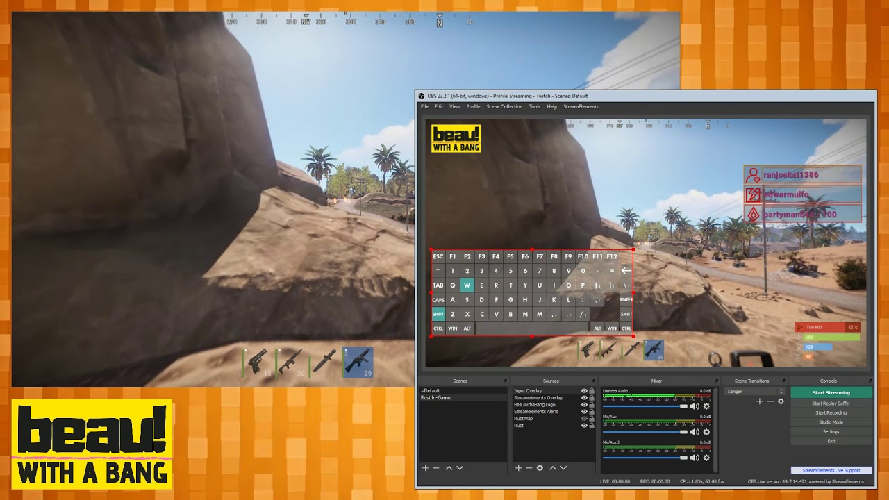 Hiding the Rust map when streaming using AutoHotKey and OBS - YouTube
