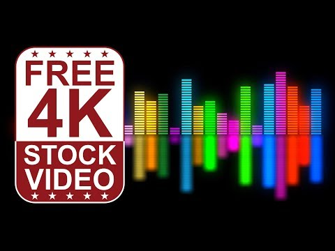FREE 4K UltraHD VFX Video Backgrounds – abstract colorful motion graphics music equalizer