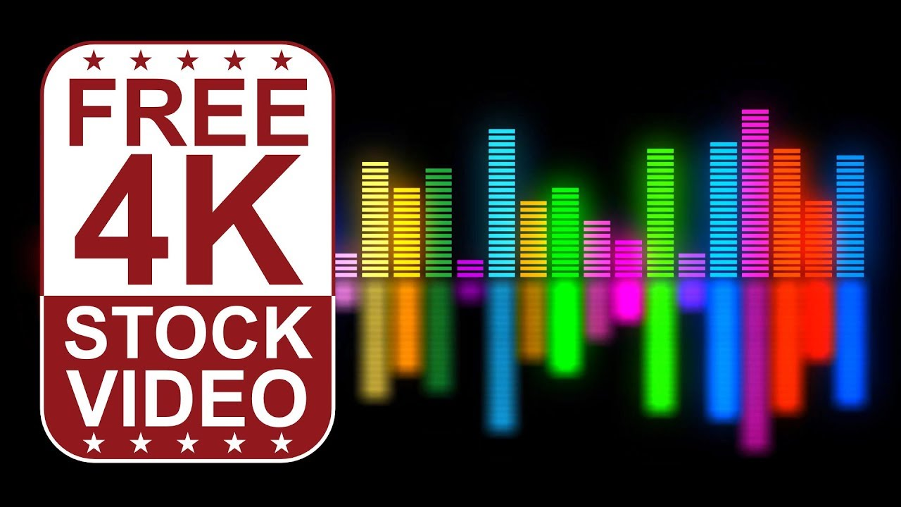 Free Stock Videos – VJ Loops DJ music equalizer colorful animated 3D motion  graphics