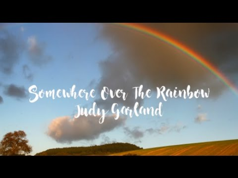 Somewhere Over The Rainbow - Judy Garland (Ukulele cover + Lyric video)