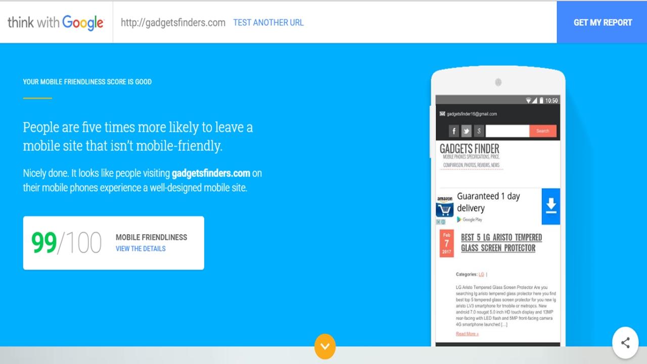 Google Test My Site - Google Mobile Friendly Test 2018
