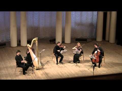 Jean Françaix Quintet for flute, harp and string trio (1934)
