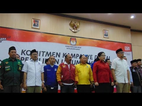 Peserta Pemilu di Jakarta Barat Deklarasikan Komitmen Kampanye Damai Mp3