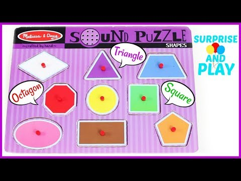 Learn Shapes with Melissa and Doug Sound Puzzles