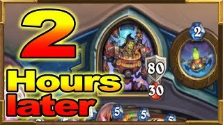 Hearthstone: 110HP Warrior After 2H Game! The Longest Game I've Ever Played!