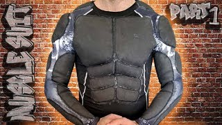HOW TO MAKE A MUSCLE SUIT FOR COSTUMES and COSPLAY! SUPERHERO FAKE MUSCLES DIY PART 1