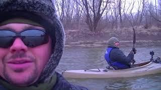 Winter Kayak Adventure Overnight Kansas River