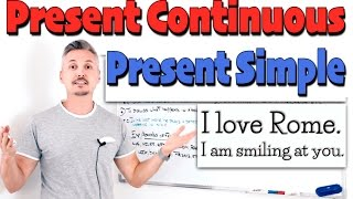 Present Simple vs. Present Continuous (EXTREMELY important to WATCH !!)