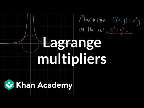 Lagrange multipliers, using tangency to solve constrained optimization