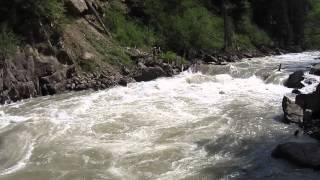 """Река Большая Лаба. Порог """"Затычка"""". Прохождение экипажем из Краснодара"""