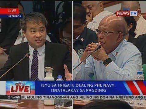 NTVL: Isyu sa Frigate Deal ng Phl Navy, tinatalakay sa pagdinig