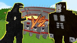WALKA GODZILLA VS KING KONG! Kto Jest Silniejszy?! MINECRAFT ARENA!