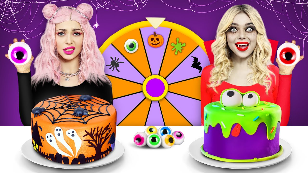 Download Halloween Cake Decorating Challenge   Food Battle with Spooky Sweets! Funny Mukbang by RATATA