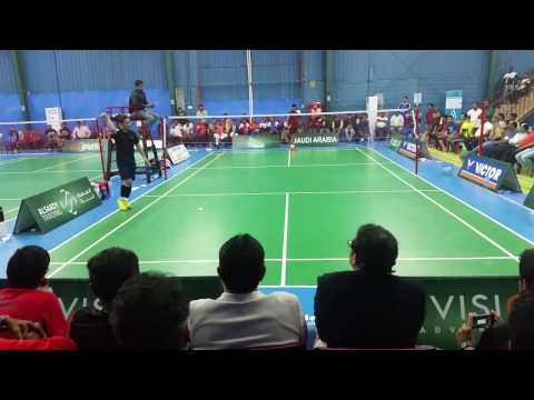 Tan VS Wahid (Premier Singles Finals) - KMCC Evenlode 1st Mega Badminton Open 2017