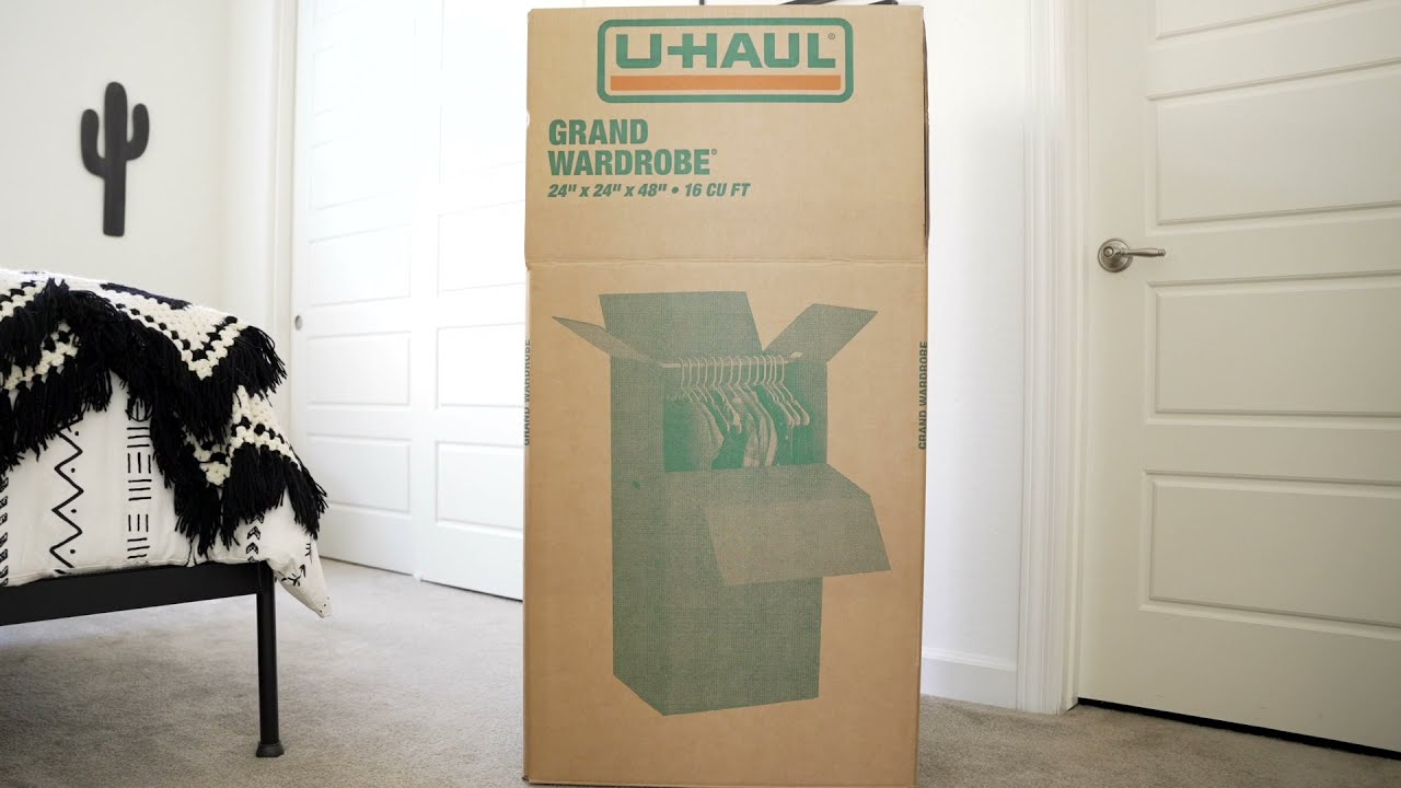 Pack Your Closet in Minutes With the U-Haul Grand Wardrobe Box
