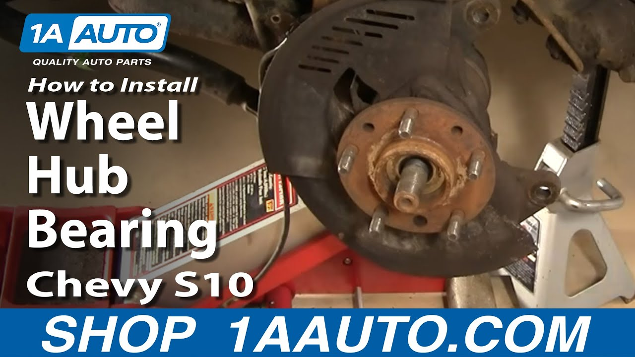 How To Install Replace Wheel Hub Bearing Chevy GMC S10
