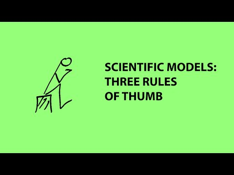 Three rules of thumb for using scientific models