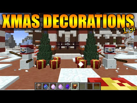 ☆CHRISTMAS DECORATIONS IN MINECRAFT VANILLA - Minecraft 1.9 ONE ...