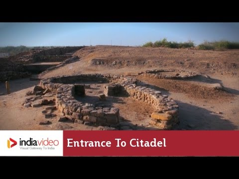 Entrance to Citadel, Dholavira in Gujarat - A harappan site