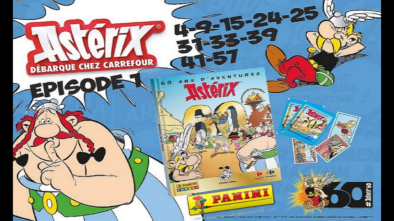stickers Panini Carrefour  Astérix N° 41