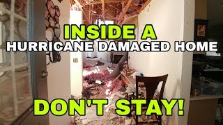 Inside a home destroyed by Hurricane Michael. Panama City part 2
