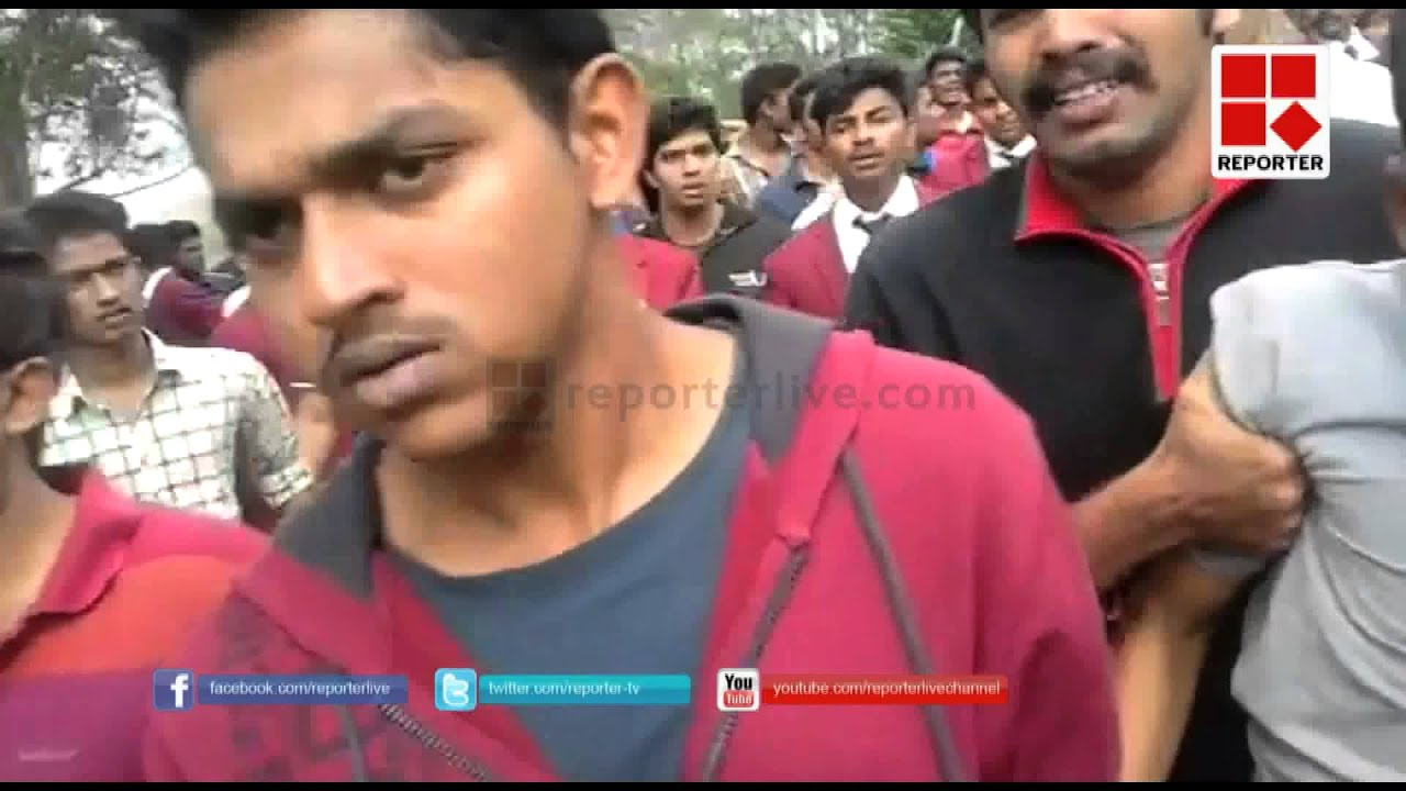 STUDENT PROTEST MUNNAR CATERING COLLEGE