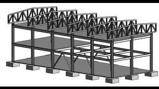 Моделирование фермы для каркасной конструкции