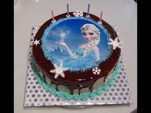 Как укладывать сахарную картинку на торт