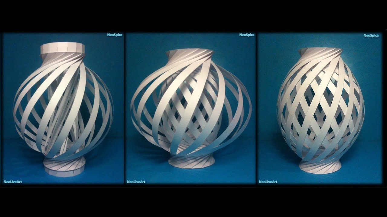 Helix column and twist spiral ball 3 paper lamp models for How to make paper lamp step by step