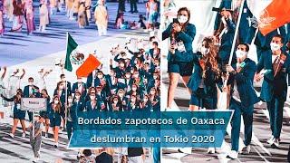 La delegación mexicana portó un traje con un distintivo del Istmo de Tehuantepec, una de las regiones con mayor riqueza cultural de Oaxaca, durante la ceremonia de inauguración de Los Juegos Olímpicos de Tokio 2020