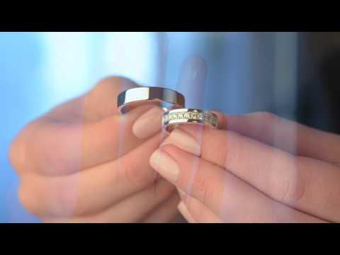 Стильные обручальные кольца с бриллиантами