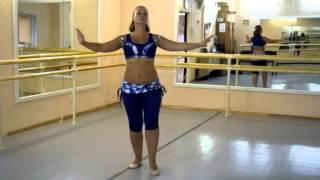 Он-лайн уроки танца живота: Baladi (часть 1 лицом)