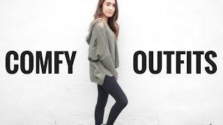 LAZY DAY OUTFIT IDEAS FOR SCHOOL | COMFORTABLE OUTFITS